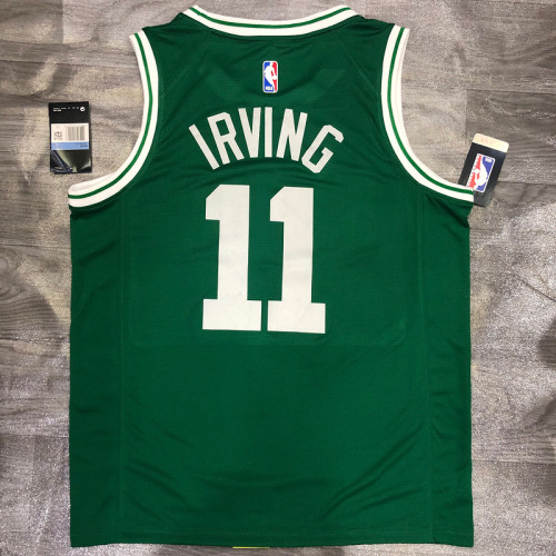 Thai Version Kyrie Irving Men's Green Player Jersey- Icon Edition
