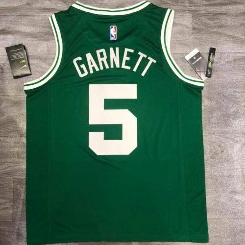 Thai Version Kevin Garnett Men's Green Player Jersey- Icon Edition