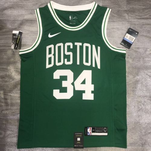 Thai Version Paul Pierce Men's Green Player Jersey- Icon Edition