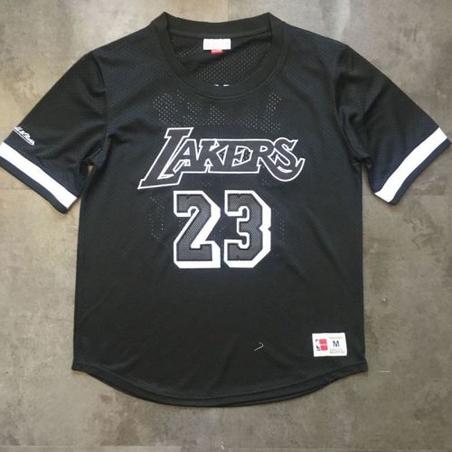 Men's LeBron James Black Retro Classic Team Short Sleeve Jersey