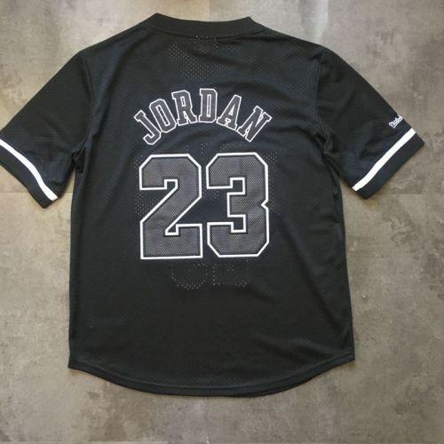 Men's Michael Jordan Black Retro Classic Team Short Sleeve Jersey