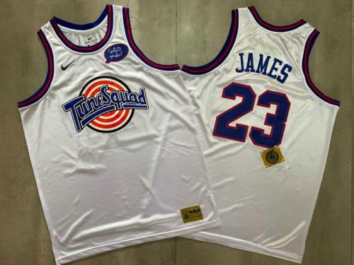 Men's LeBron James White Retro Classic Team Jersey