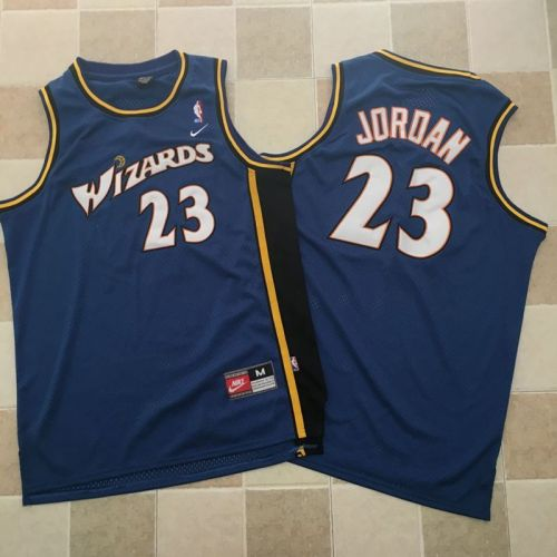 Men's Michael Jordan Blue Retro Classic Team Jersey