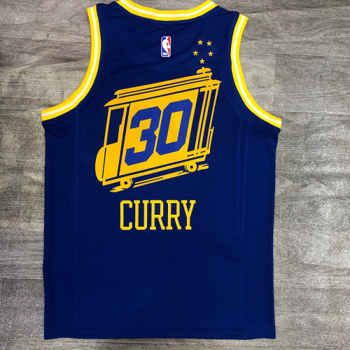 Thai Version Stephen Curry Men's Blue Player Jersey - Classic Edition