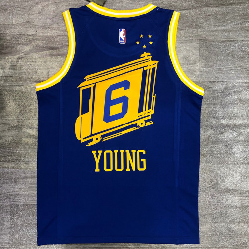 Thai Version Nick Young Men's Blue Player Jersey - Classic Edition