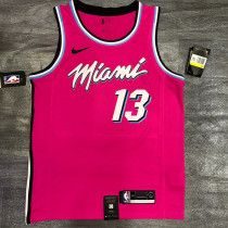 Thai Version Bam Adebayo Men's Pink Player Jersey - Classic Edition