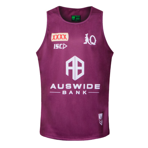QLD Maroons 2020 Men's Training Rugby Singlet