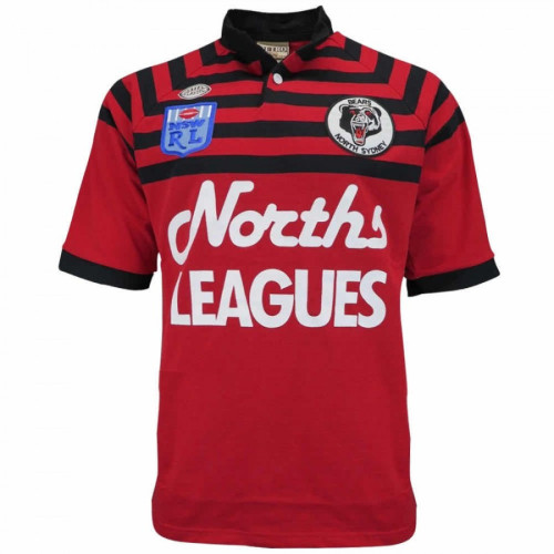 North Sydney Bears 1991 Mens Retro Rugby Jersey