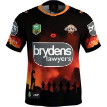 Wests Tigers 2018 Men's ANZAC Rugby Jersey