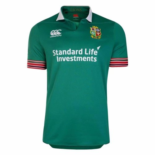 British & Irish Lions Mens Training Pro Jersey Green