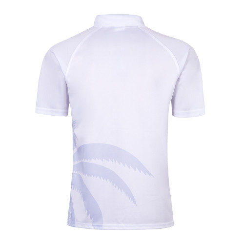 Fiji 2019 7'S White Mens Rugby Polo Shirt