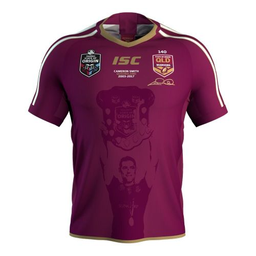 QLD Maroons 2018 Men's Cameron Smith Rugby Jersey
