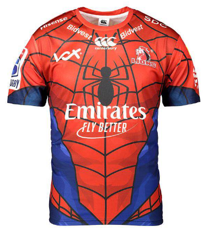 LIONS 2019 SUPER RUGBY MARVEL JERSEY