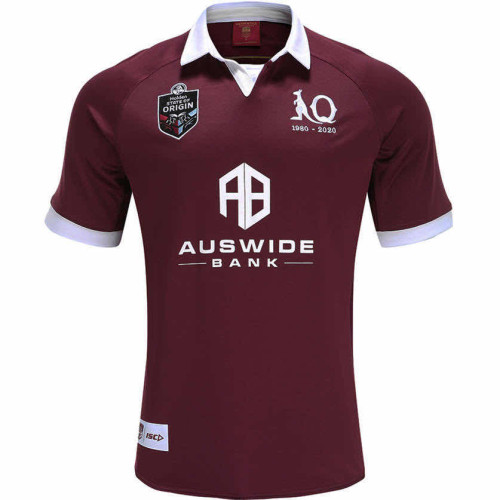 QLD Maroons 2020 Men's Home Rugby Jersey