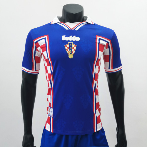 Croatia 1998 Away Retro Soccer Jerseys