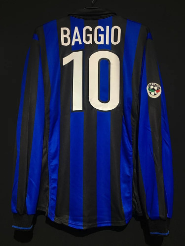 Inter Milan 1998/1999 Baggio Retro LS Home Jersey