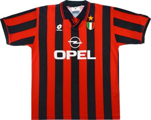 AC Milan 1996-97 Home Retro Soccer Jersey