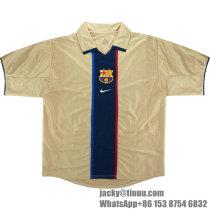 Barcelona 2001-2003 Away Retro Soccer Jersey