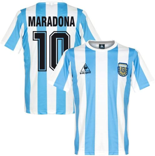 Argentina 1986 Maradona Home Retro Jersey