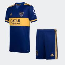 Boca Juniors 2020 Home Soccer Jersey and Short Kit
