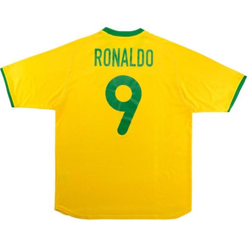 Brazil 2000/2002 Ronaldo Home Retro Jersey