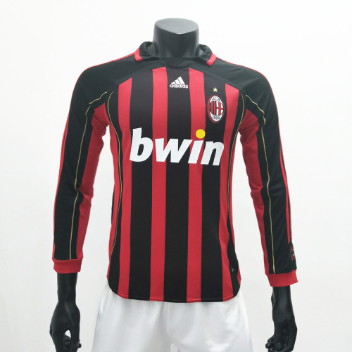 AC Milan 2006/2007 Home LS Retro Soccer Jerseys