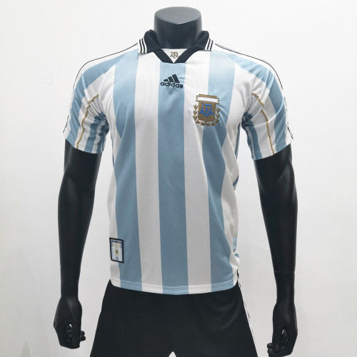 Argentina 1998 Home Retro Soccer Jerseys