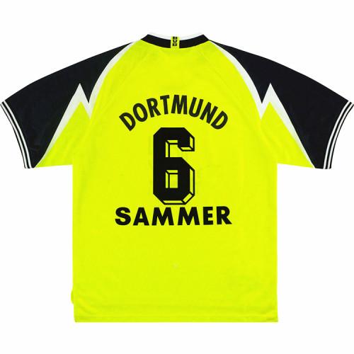 Borussia Dortmund 1995/96 Sammer Home Retro Jersey