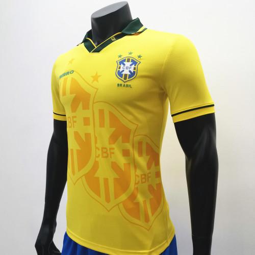 Brazil 1994 Home Retro Soccer Jerseys