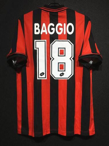 AC Milan 1996-97 Home Retro Player Jersey