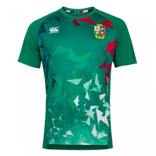 British And Irish Lions 2020 Mens Green Graphic Rugby Jersey