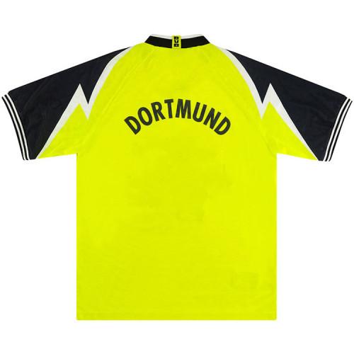 Borussia Dortmund 1995/96 Home Retro Soccer Jerseys