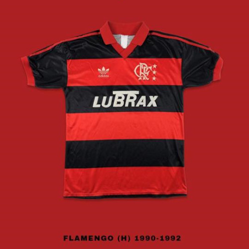 Flamengo 1990-92 Home Retro Soccer Jersey