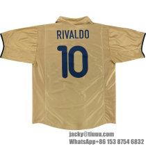 Barcelona 2001-2003 Rivaldo Away Retro Jersey