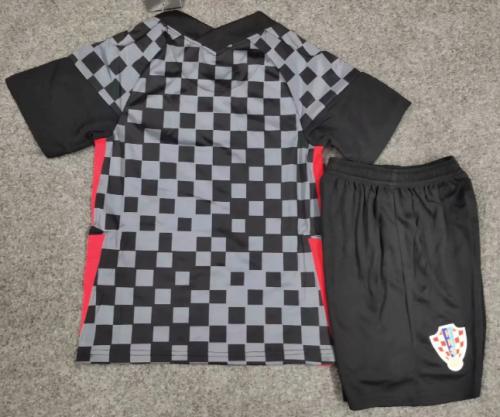Croatia 2020 Kids Away Soccer Jersey and Short Kit