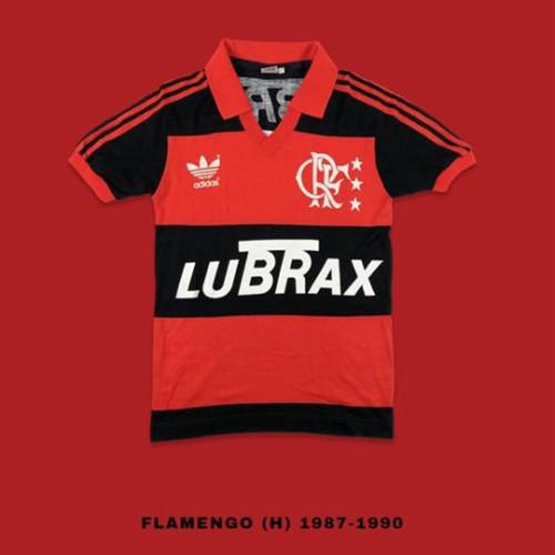 Flamengo 1987-90 Home Retro Soccer Jersey