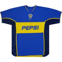 Boca Juniors 2002 Home Retro Soccer Jersey