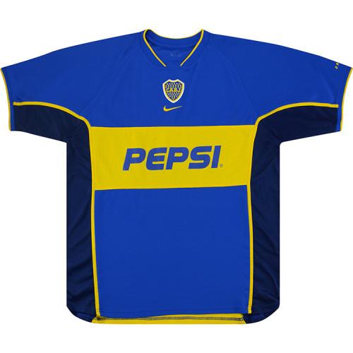 Boca Juniors 2002 Roman Home Retro Jersey