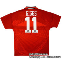Manchester United 1994/1996 Giggs Home Retro Jersey