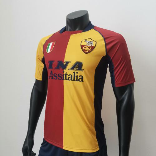 Roma 2001/2002 Home Retro Soccer Jerseys