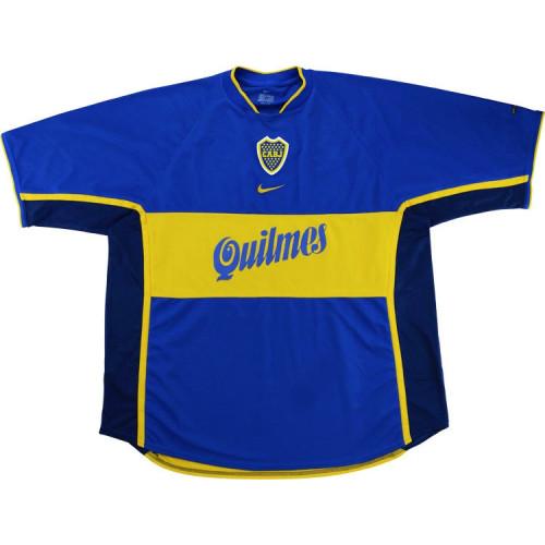 Boca Juniors 2001-02 Home Retro Soccer Jersey