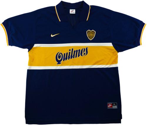 Boca Juniors 1996-97 Home Retro Soccer Jersey