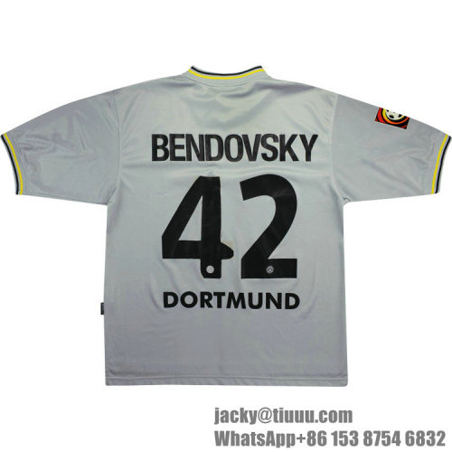 Dortmund 2000-01 Bendovskyi Away Retro Jersey