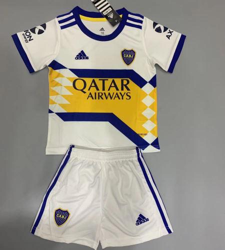 Boca Juniors 20/21 Kids Away Soccer Jersey and Short Kit