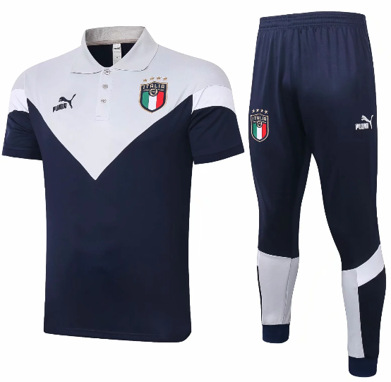 Italy 2020 Polo and Pants - Blue - C422
