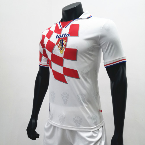 Croatia 1998 Home Retro Soccer Jerseys