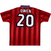 England 1998 Owen Away Retro Jersey