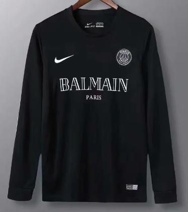 Thai Version Paris Saint-Germain 20/21 LS Training Soccer Jersey - Black