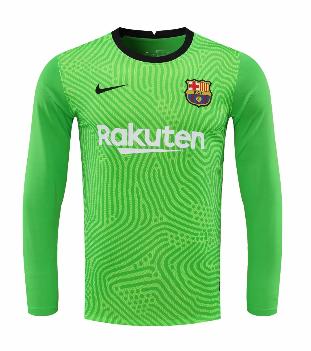 Thai Version Barcelona 20/21 LS Goalkeeper Soccer Jersey