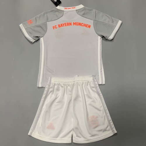 Bayern Munich 20/21 Kids Away Soccer Jersey and Short Kit